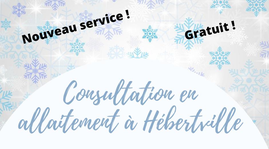Nouveau service : Consultation en allaitement à Hébertville