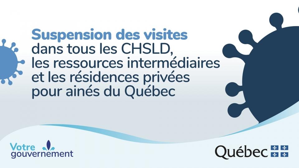 MESURES GOUVERNEMENTALES - Suspension des visites