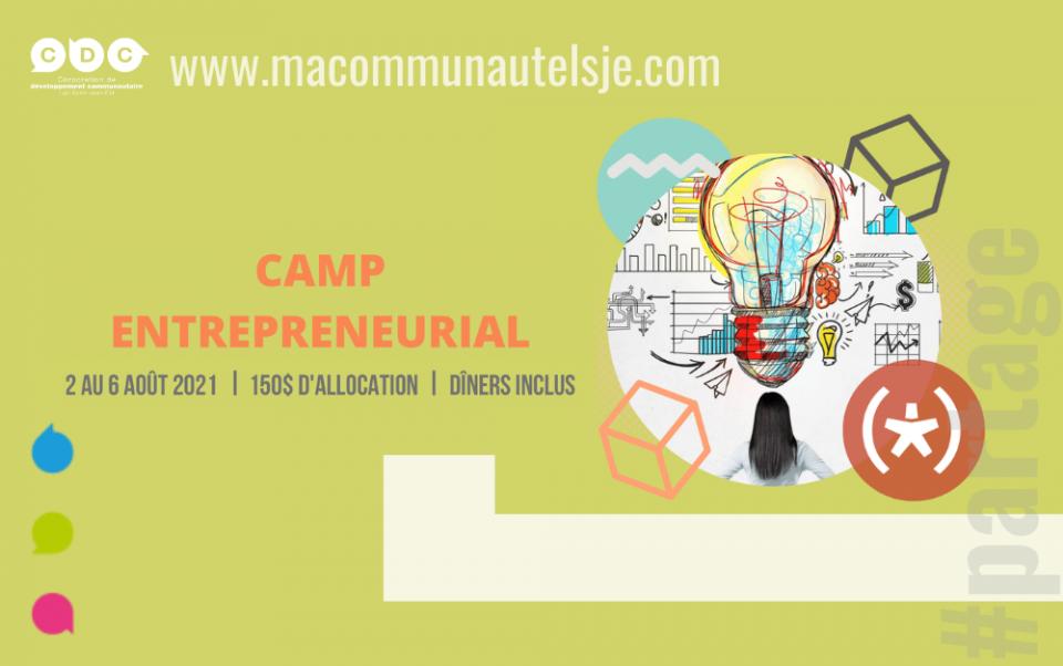 Camp entrepreneurial   Août 2021