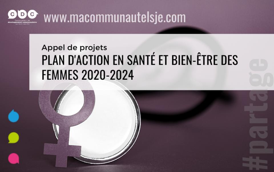 Appel de projets plan d'action en santé et bien-être des femmes 2020-2024