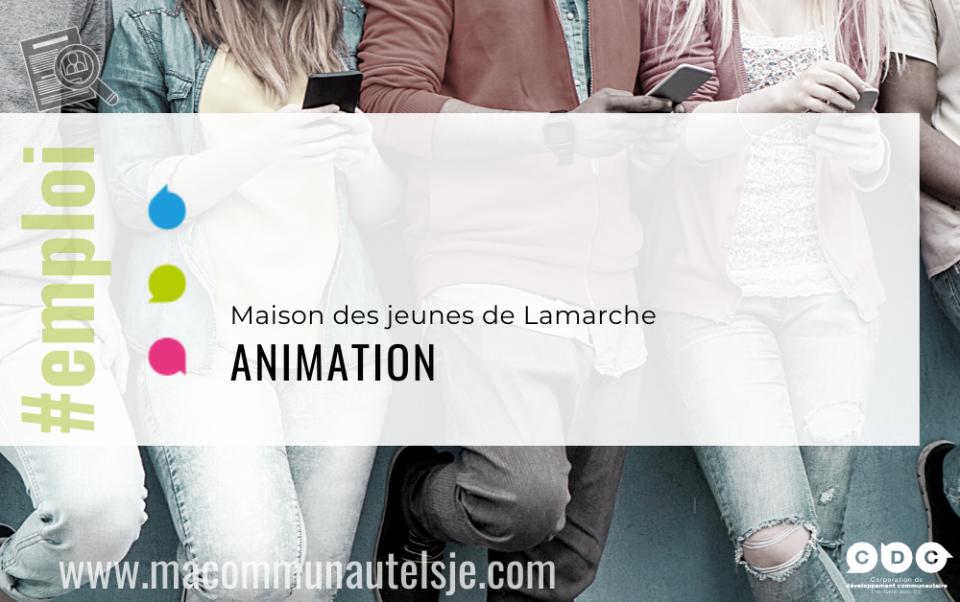 Animateur/Animatrice de la Maison des jeunes de Lamarche