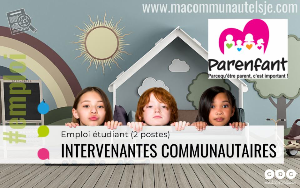 Intervenantes communautaires (2 postes étudiants)