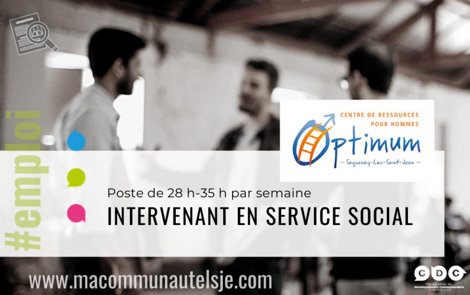 Intervenante ou intervenant en service social