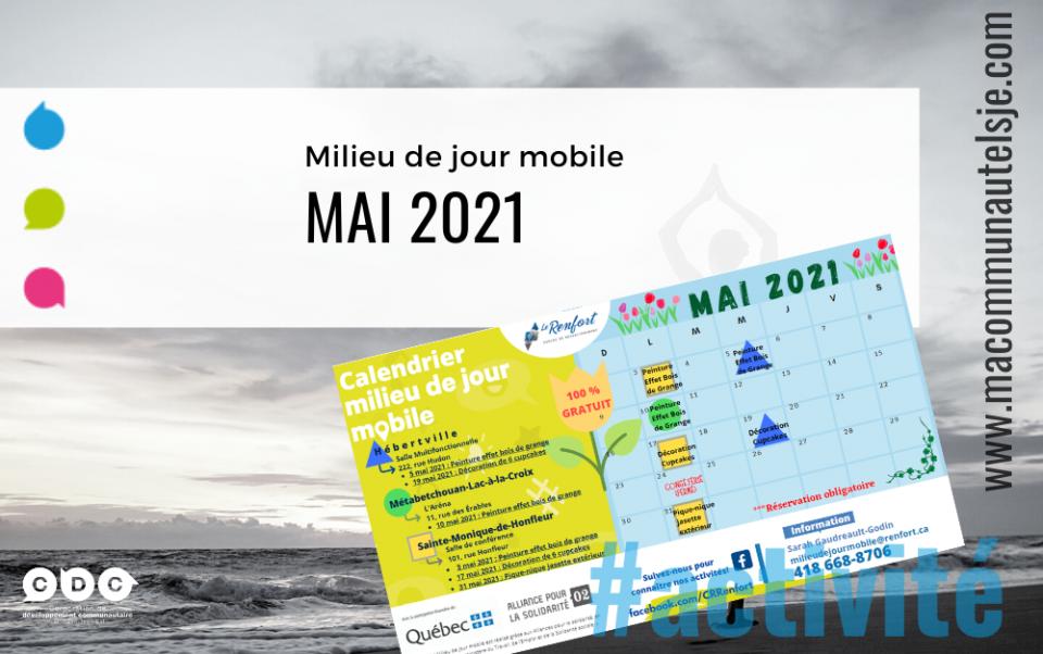 Calendrier de mai | Milieu de jour mobile
