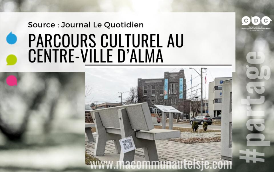 Parcours culturel au centre-ville d'Alma