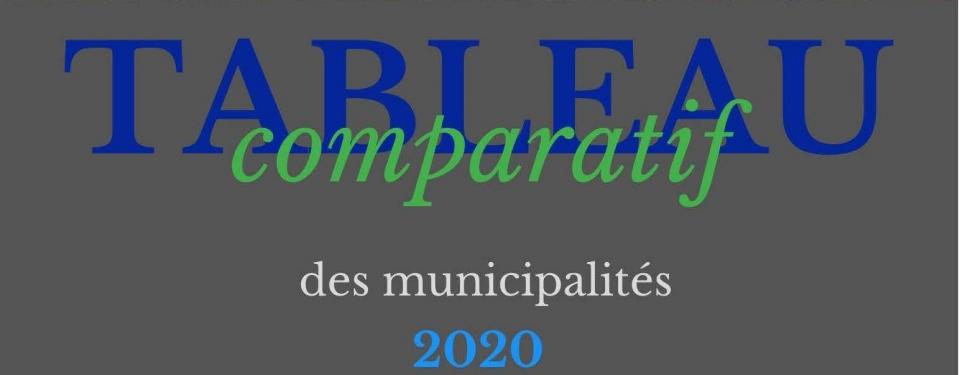 Tableau comparatif des municipalités 2020