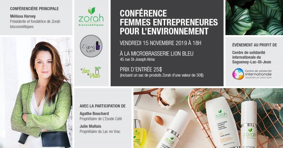 Conférence Femmes entrepreneures pour l'environnement